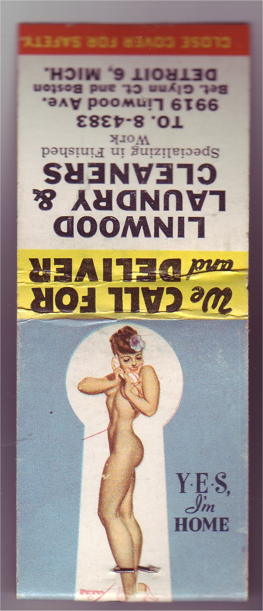 Pin Up Laundry. Petty Pin-up Matchbook