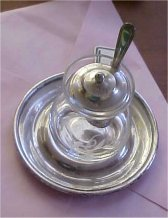 Sterling & Glass Condiment Jar