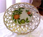 Pierced Fruit Bowl Saxe